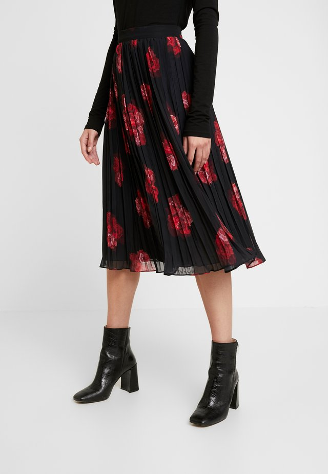 PLEATED SHEER MIDI SKIRT - Vekkihame - flower