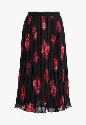 PLEATED SHEER MIDI SKIRT - Pleated skirt - flower