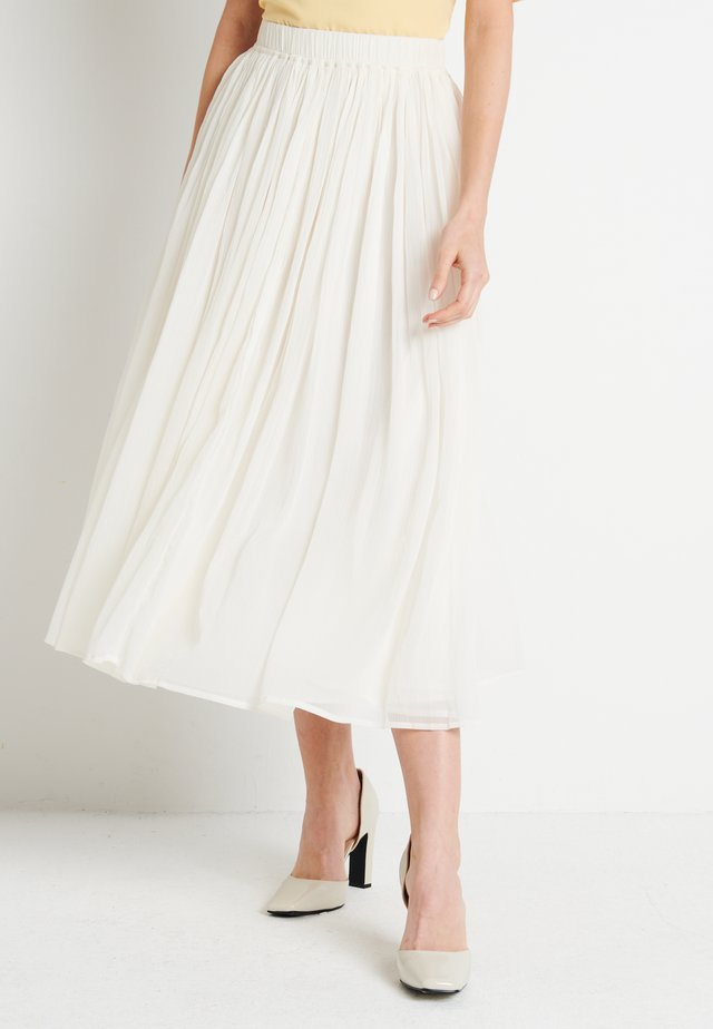 ZALANDO X NA-KD MIDI SKIRT - A-Linien-Rock - off white