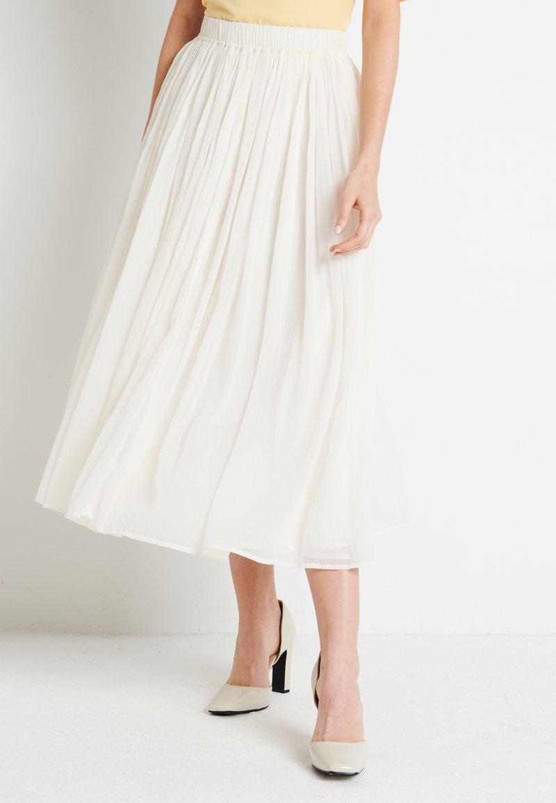 NA-KD - ZALANDO X NA-KD MIDI SKIRT - Áčková sukně - off white