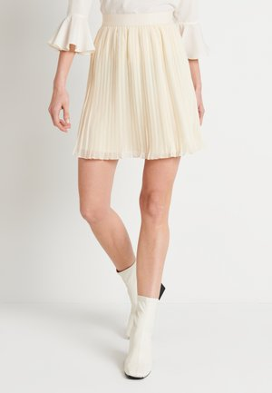 PLEATED SKIRT - A-lijn rok - off white