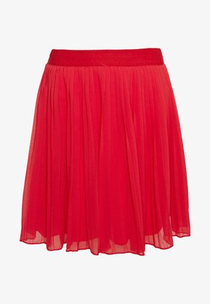 PLEATED SKIRT - A-line skjørt - red