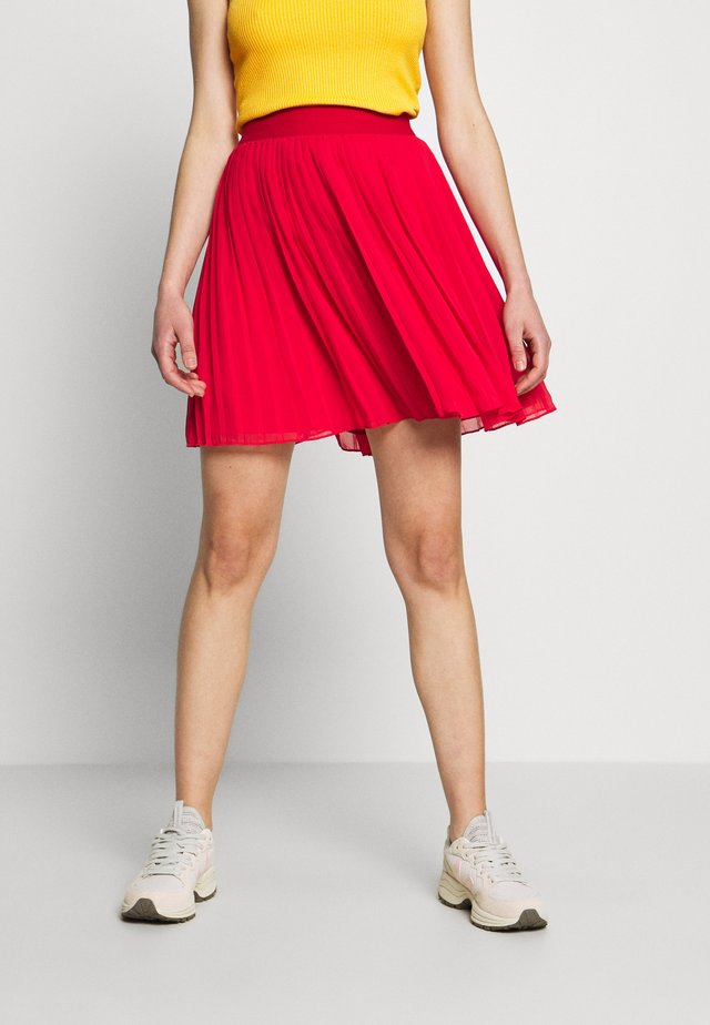 PLEATED SKIRT - A-linjainen hame - red
