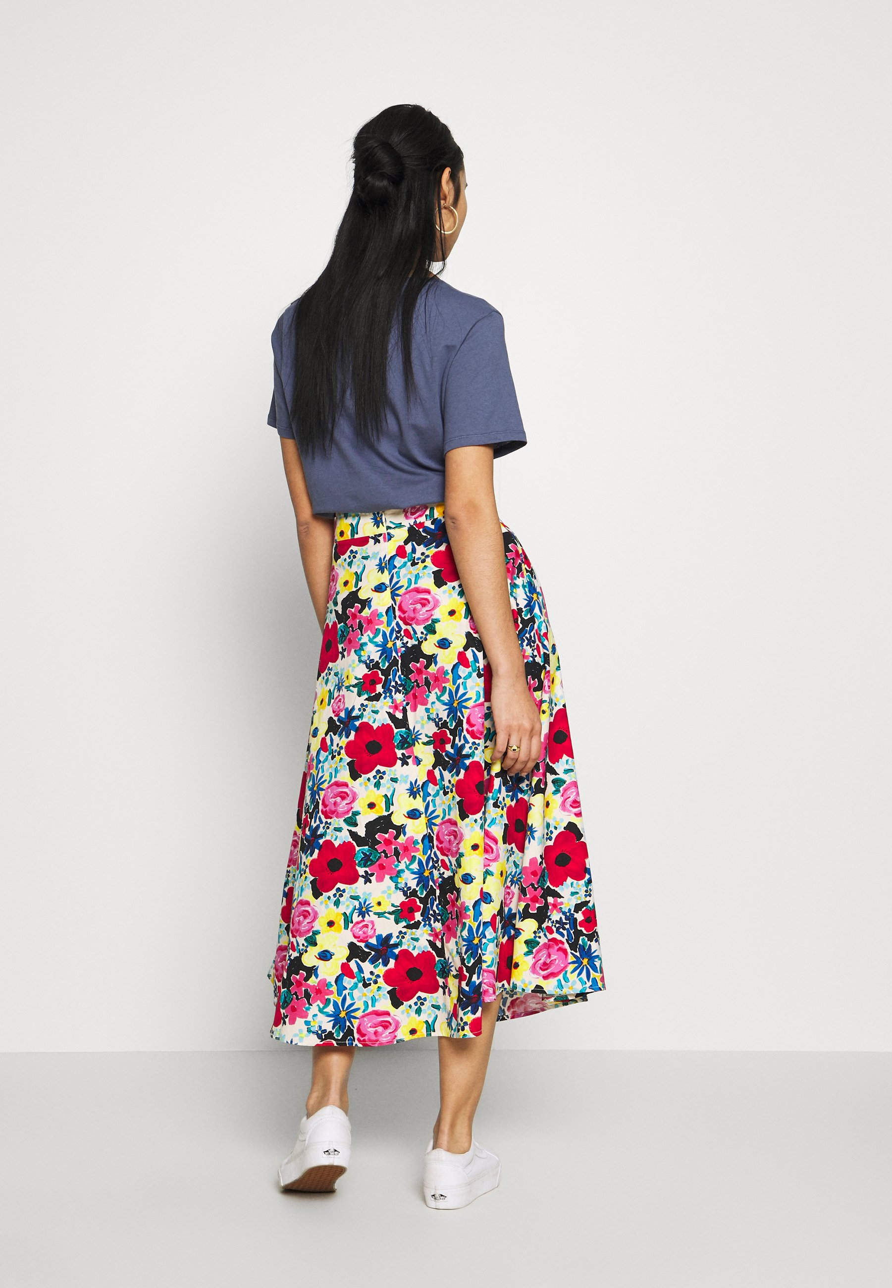 Na-kd Flowy Skirt - Gonna A Campana Poppy EO6NyKO