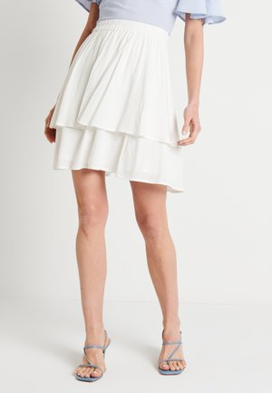 FLOWY SKIRT - Mini skirt - white