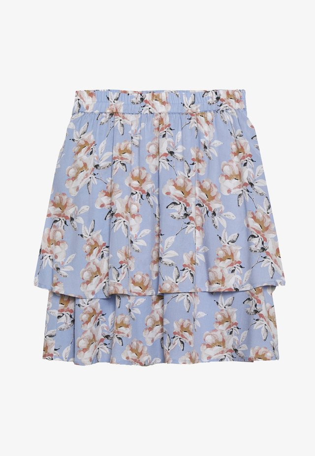 FLOWY SKIRT - Minihame - light blue