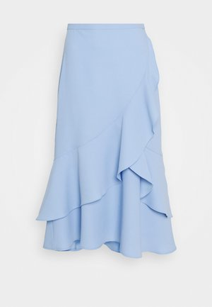 QUEEN OF JETLAGS  X NA-KD FLOUNCE MIDI SKIRT - A-Linien-Rock - pastel blue