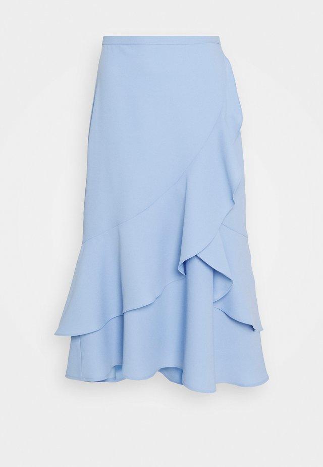 FLOUNCE MIDI SKIRT - A-snit nederdel/ A-formede nederdele - pastel blue