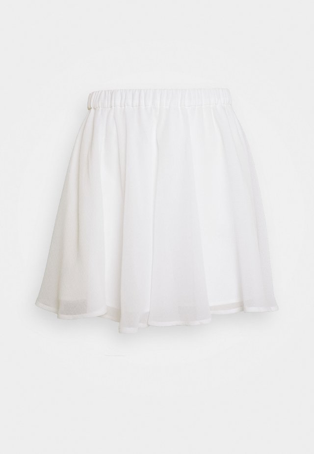 Pamela Reif x NA-KD CIRCLE SKIRT - A-Linien-Rock - white
