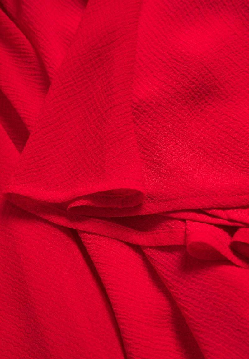 NA-KD PAMELA REIF X NA-KD CIRCLE MINI SKIRT - A-line skjørt - red