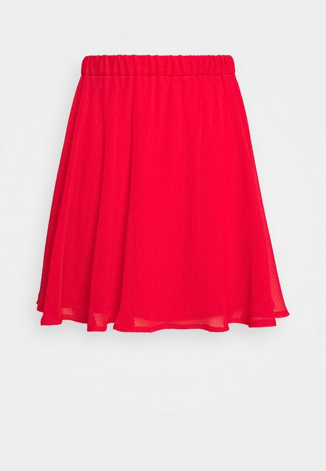PAMELA REIF X NA-KD CIRCLE MINI SKIRT - A-linjainen hame - red