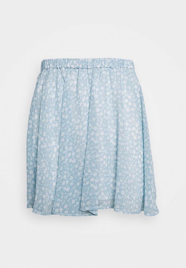 PAMELA REIF X NA-KD CIRCLE MINI SKIRT - A-snit nederdel/ A-formede nederdele - light blue