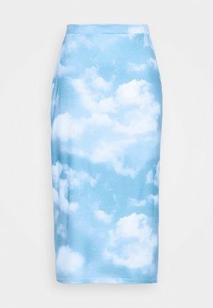 EMELIE MALOU SKY PRINTED SKIRT - A-line skirt - light blue