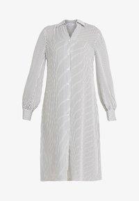 NA-KD - MIDI STRIPED DRESS - Košilové šaty - black/white - 4