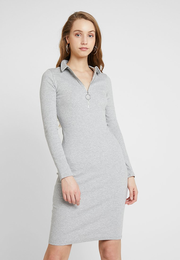 NA-KD - ZIPPED DRESS - Vestido de tubo - grey
