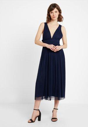 V NECK MIDI DRESS - Společenské šaty - dark blue