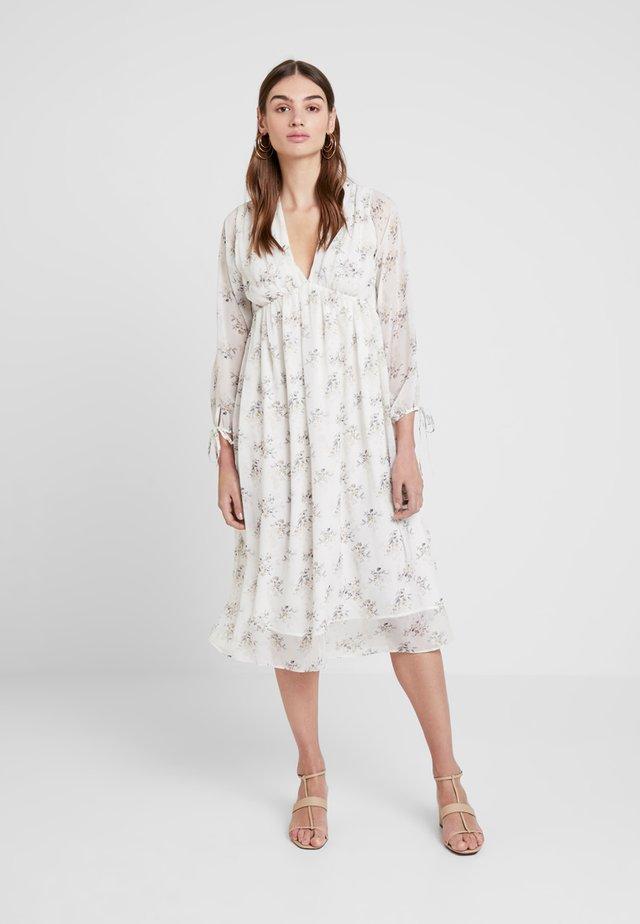 KAE SUTHERLAND FLORAL DEEP V NECK DRESS - Day dress - multi