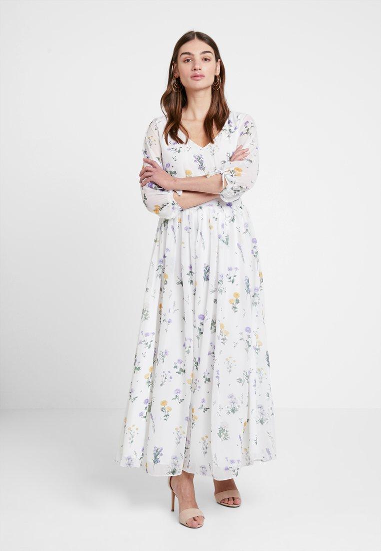NA-KD - KAE SUTHERLAND V NECK DRESS - Maxikleid - multi white