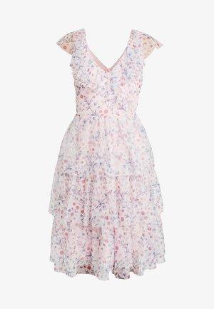 RUFFLE FLORAL MIDI DRESS - Robe d'été - pink