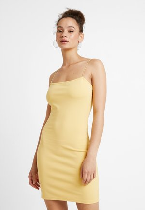 BASIC FITTED DRESS - Fodralklänning - yellow