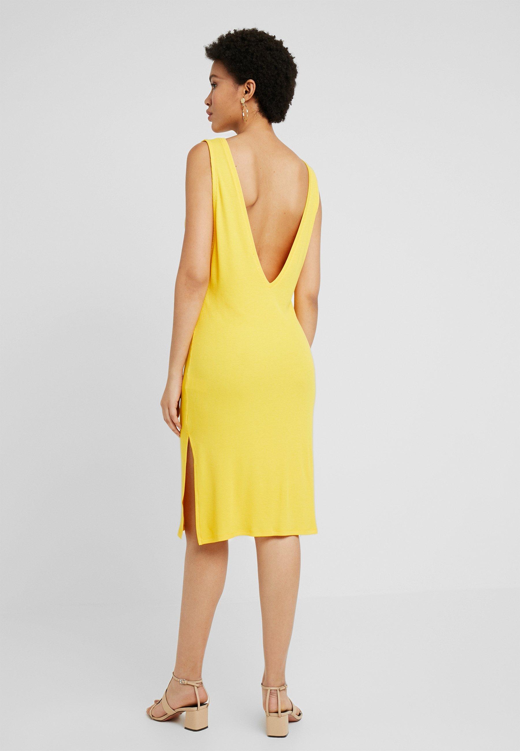 kd Back En Jersey V Deep Yellow Hoss DressRobe Na Relaxed u13KclFJT