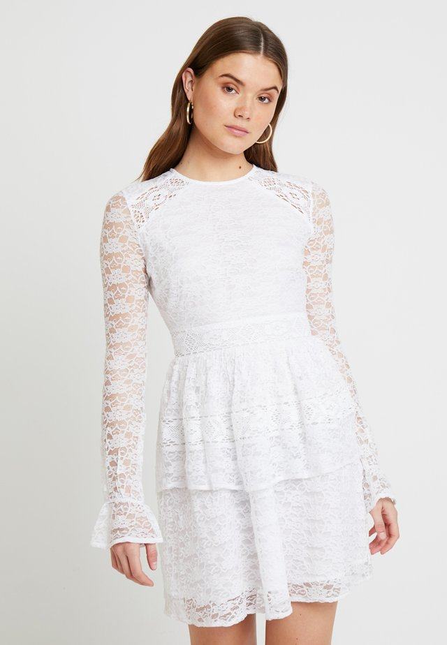 GRADUATION DROP ALL OVER MIDI DRESS - Cocktail dress / Party dress - white