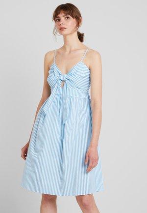 FRONT KNOT MIDI DRESS - Denní šaty - white/blue
