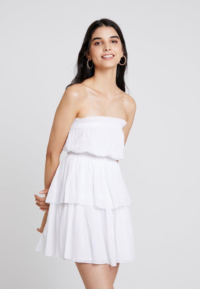 NA-KD - TALISA STRAPLESS MINI DRESS - Day dress - white
