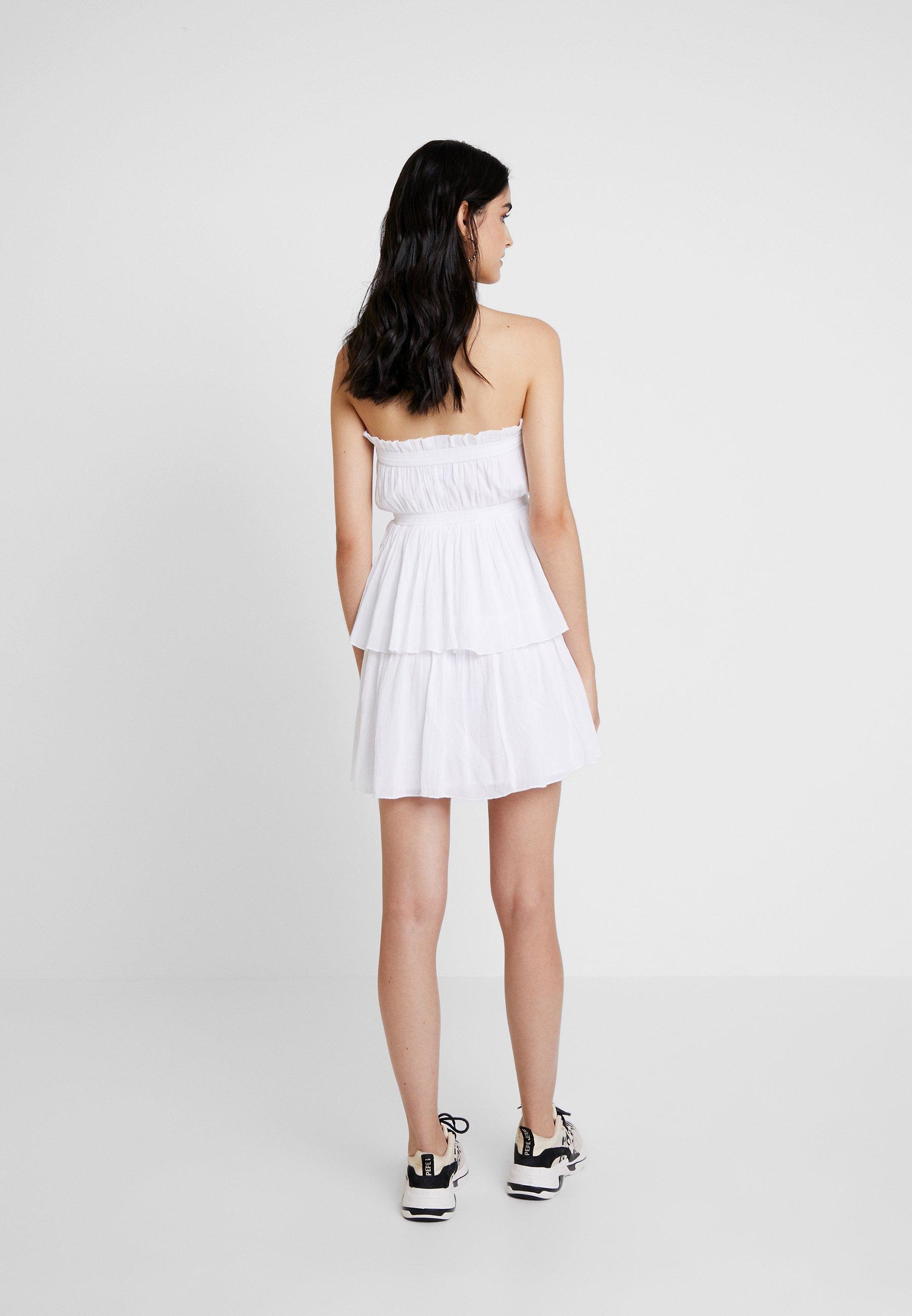 Talisa kd DressRobe Na White Mini D'été Strapless 0k8OnPw