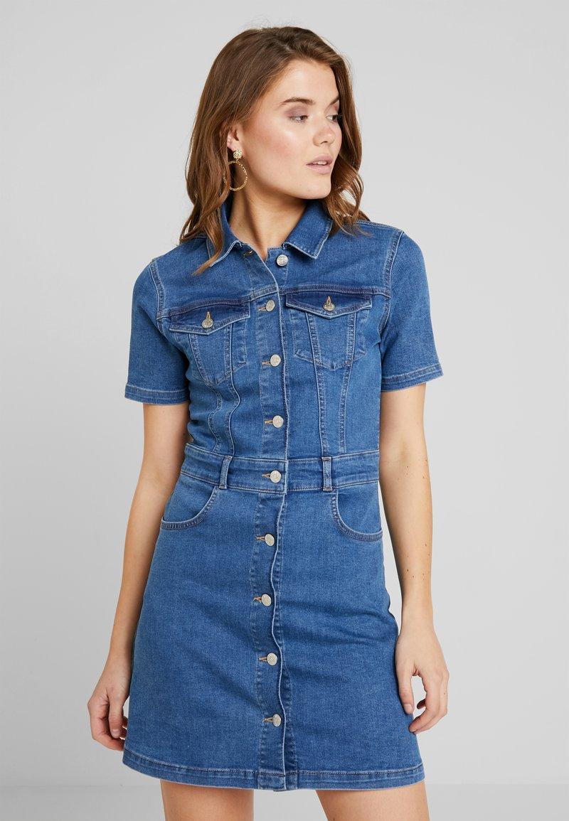 Up Button Na kd Mid Blue Wash Mini En DressRobe Jean 8vNm0nw