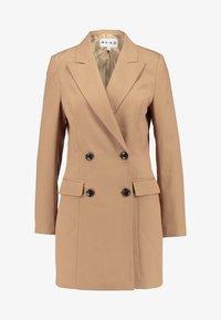 NA-KD - WIDE LAPEL BLAZER DRESS - Robe chemise - camel - 4