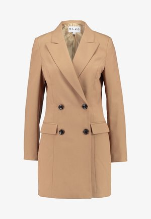 WIDE LAPEL BLAZER DRESS - Abito a camicia - camel