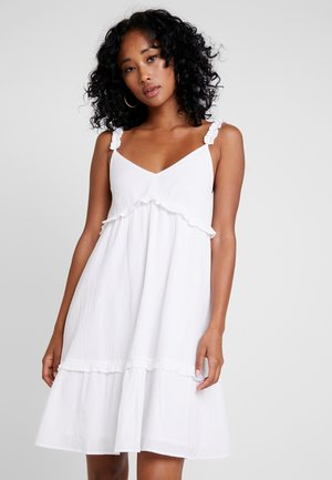 FRILLED MINI DRESS - Vardagsklänning - white