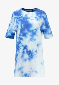 NA-KD - OVERSIZED TIE DYE DRESS - Vestito di maglina - blue - 5