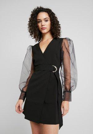 TINA MARIA SLEEVE MINI DRESS - Denní šaty - black
