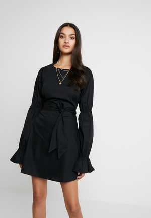PAULINYE X OPEN BACK MINI DRESS - Robe d'été - black