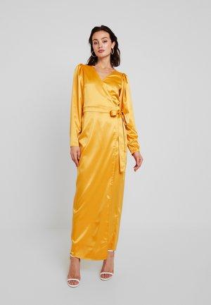 PUFF SLEEVE WRAP MAXI DRESS - Robe d'été - mustard