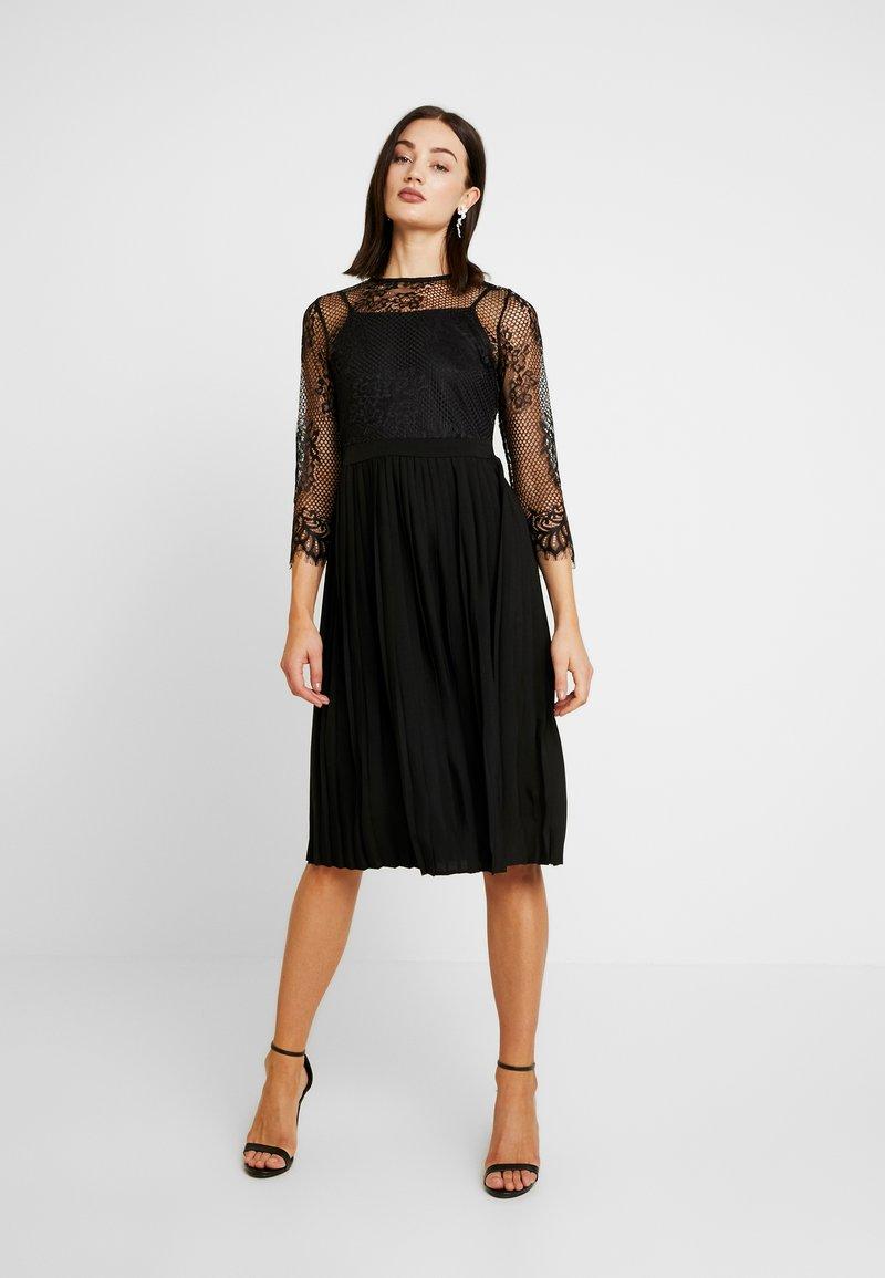 NA-KD - CONTRAST MIDI DRESS - Vestito elegante - black