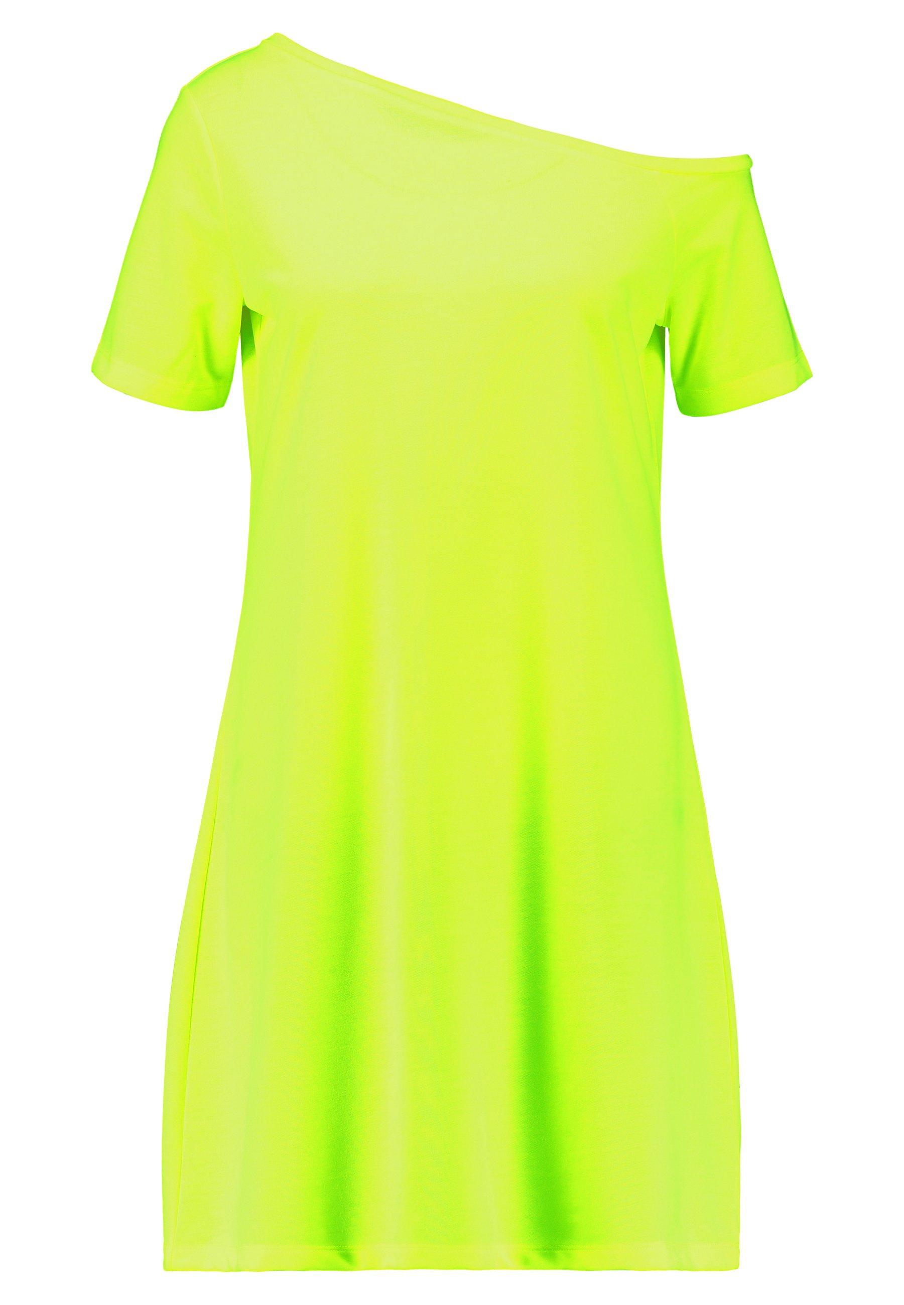 NA-KD OFF SHOULDER RELAXED - Sukienka z dżerseju - neon pink