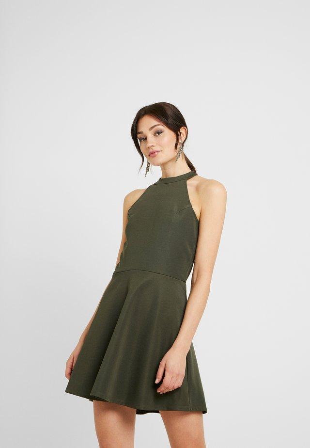 PAMELA REIF X  NA-KD HALTER NECK SKATER DRESS - Jersey dress - green