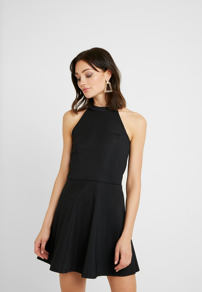 NA-KD - PAMELA REIF X  NA-KD HALTER NECK SKATER DRESS - Jersey dress - black