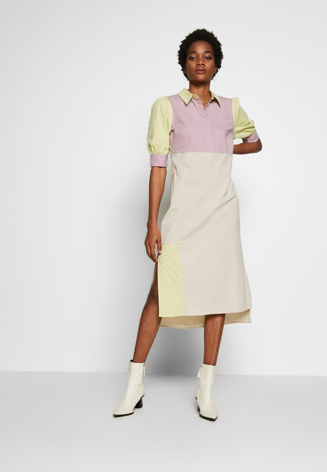 PUFF SLEEVE PANEL DRESS - Shirt dress - multi