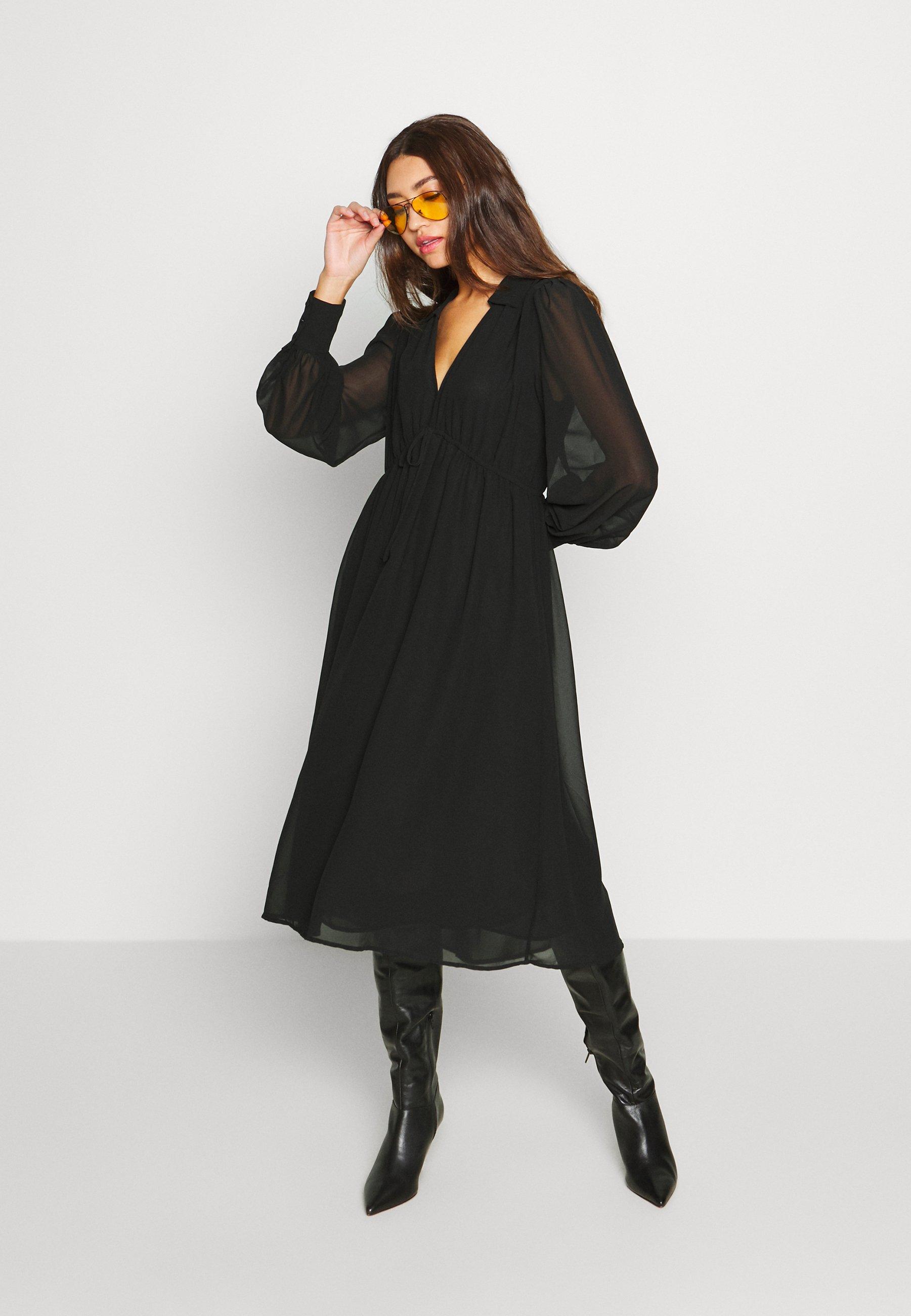 NA-KD MIDI DRESS - Sukienka letnia - black