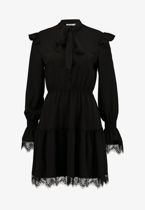 SMOCKED FLOUNCE DETAIL DRESS - Sukienka letnia - black