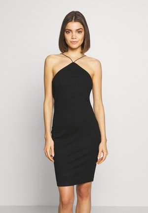 BODYCON STRAP DRESS - Jersey dress - black