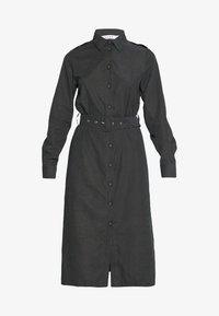 NA-KD - FRONT BUTTON BELTED DRESS - Shirt dress - black - 3