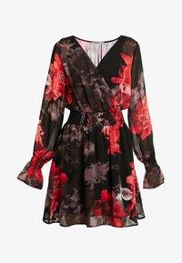 NA-KD - SMOCKED V NECK MINI DRESS - Denní šaty - multi-coloured - 4