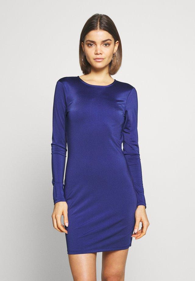 OPEN BACK DETAIL DRESS - Žerzejové šaty - navy