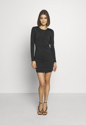 OPEN BACK DETAIL DRESS - Jersey dress - black