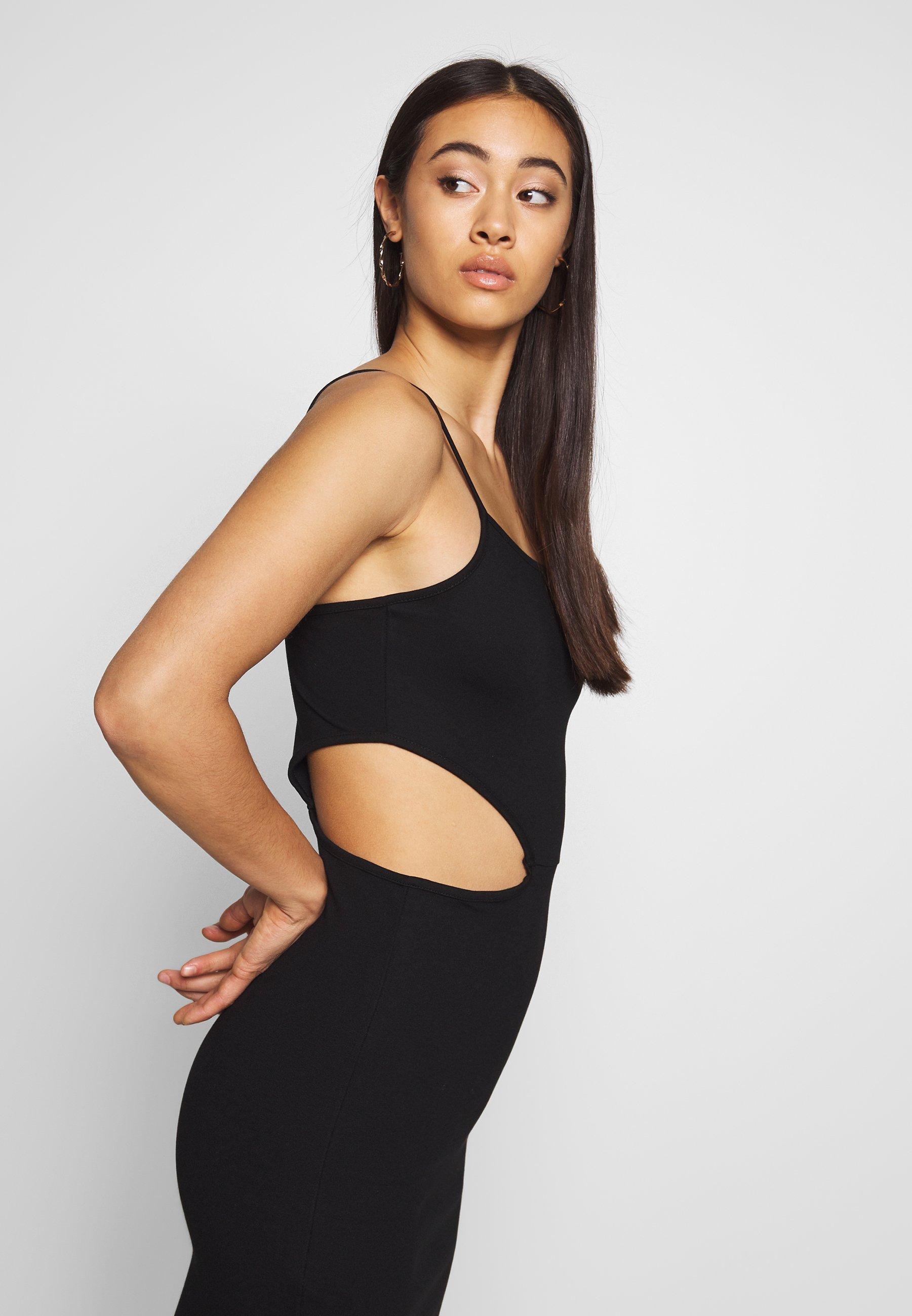 Na-kd Open Side Detail Dress - Fodralklänning Black